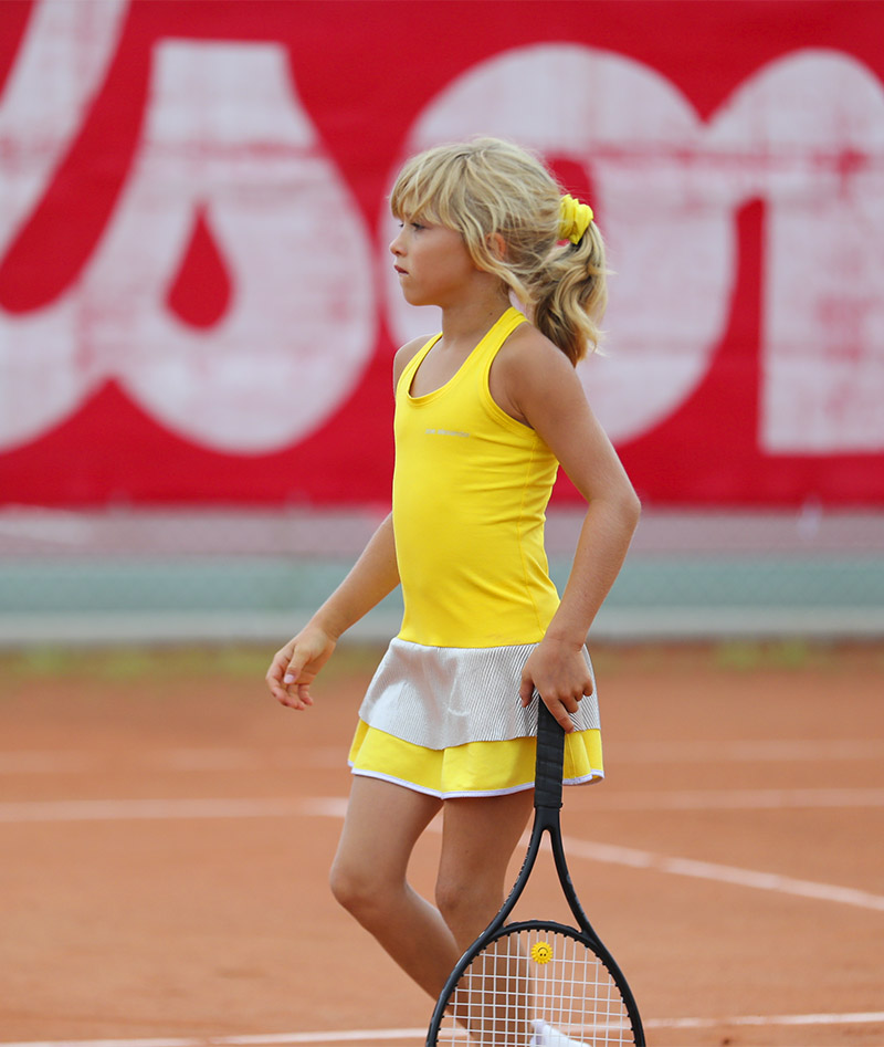 lemon yellow girls tennis dress zoe alexander uk