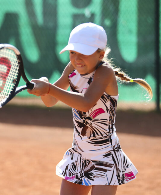 floral splash pink girls tennis dress zoe alexander uk