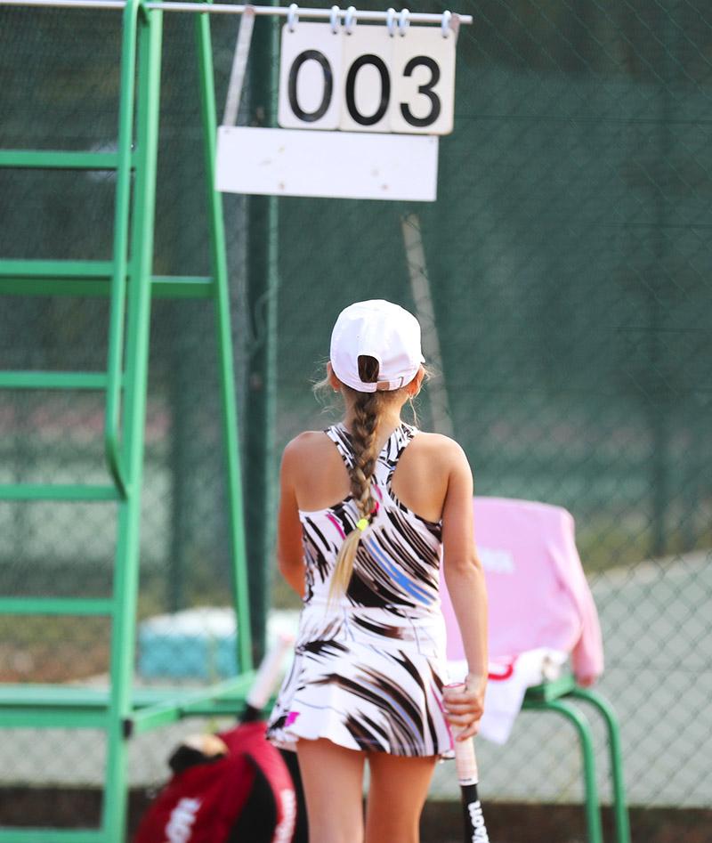 floral splash pink girls tennis dress zoe alexander uk
