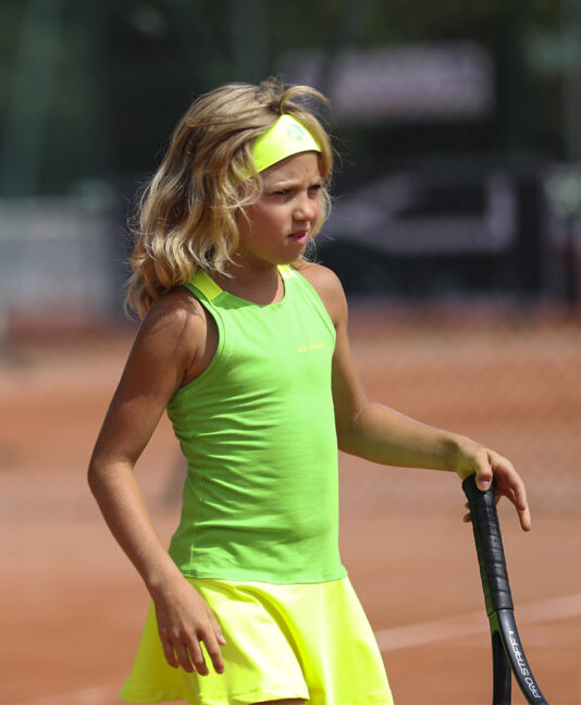 neon green yellow rebecca girls tennis dress zoe alexander uk