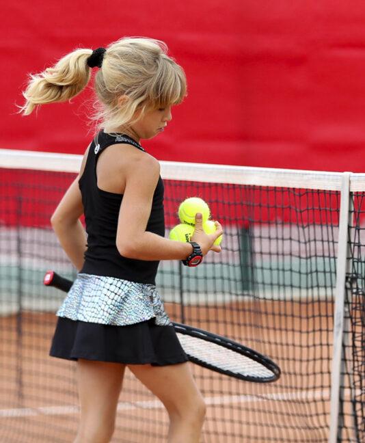 girls black tennis dress zoe alexander uk LBD