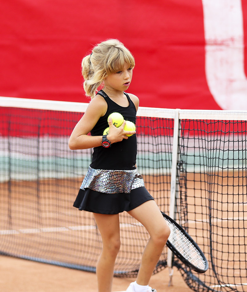 girls black tennis dress zoe alexander uk LBD