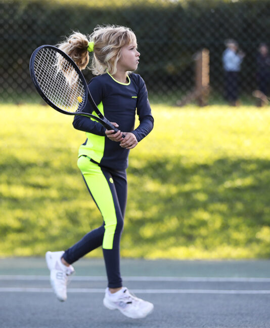 katya girls long sleeve tennis top fleece lined zoe alexander uk