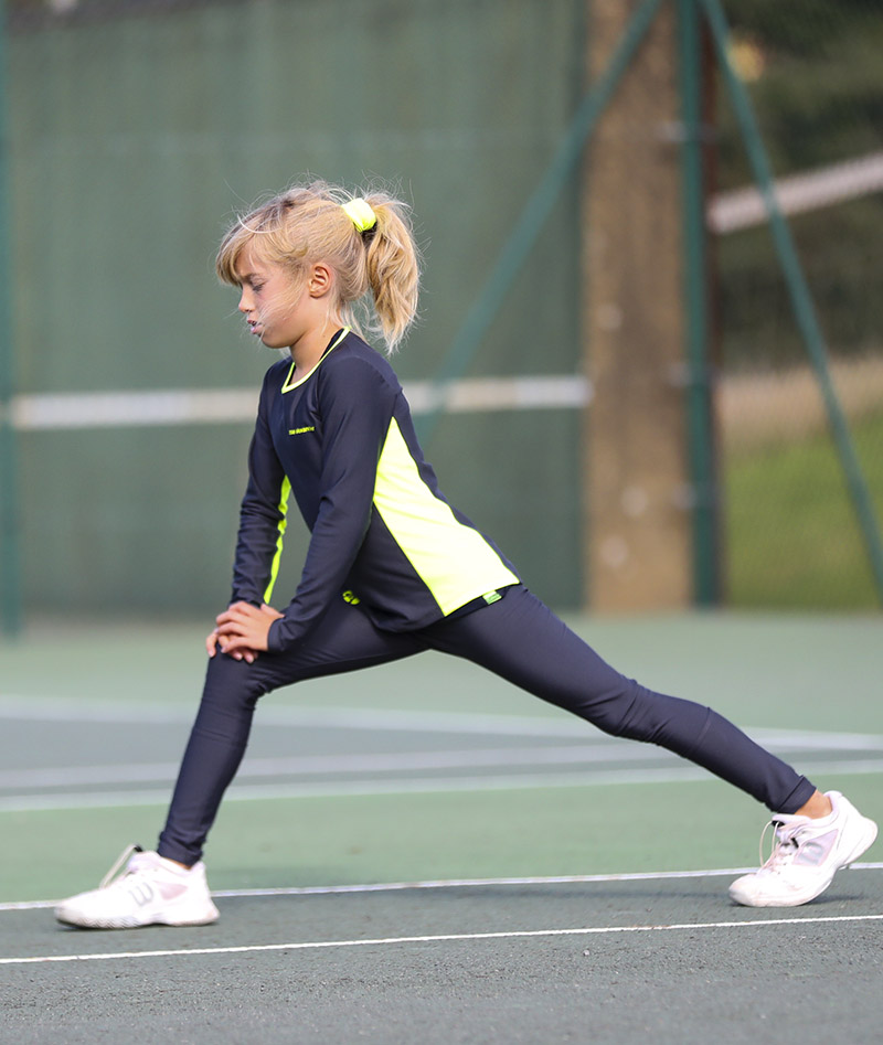 katya girls long sleeve tennis top fleece lined zoe alexander uk